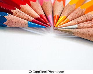 Hot tone color pencil