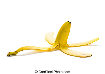 banana skin isolated on a white background