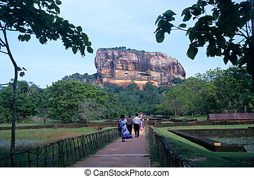 Gardens of Sigiriya Lion's rock fortress, Sri Lanka