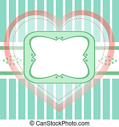 Seamless background greeting with love heart