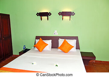 Apartment interior in the popular hotel, Bentota, Sri Lanka