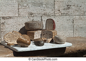 Cheese Stone - cheese and bread stone - a monument to the...