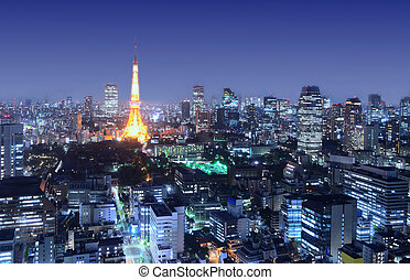 Tokyo Cityscape - View of Tokyo Tower in Tokyo, Japan.