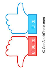 like and dislike symbols Vector illustration