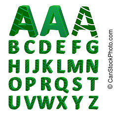 Cartoon vector font, full alphabet