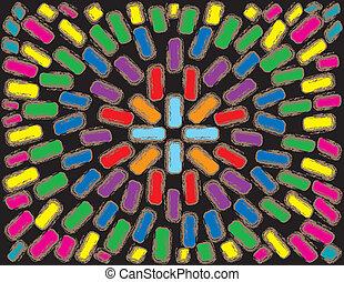 Rainbow Brick pattern - colorful brick pattern background...