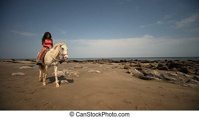 Woman Riding At Beach - Horse Riding At Beach