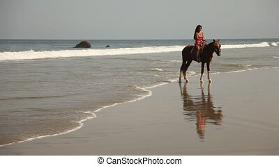 Horse Riding At Beach