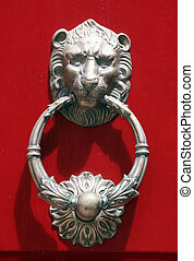 knocker door - Lionhead knocker door