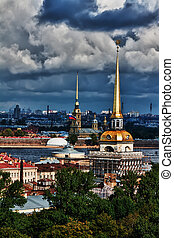top view of the St. Petersburg