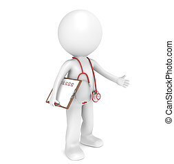 Doctor - 3D little human character The Doctor Red theme...