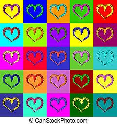 Warhol hearts
