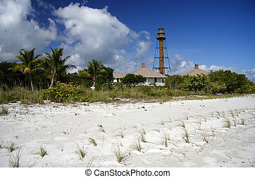 Sanibel Light - Historic Lighthouse on Sanibel Island, South...