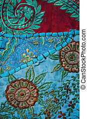 tapestry blue - beautiful blue flowery textile background
