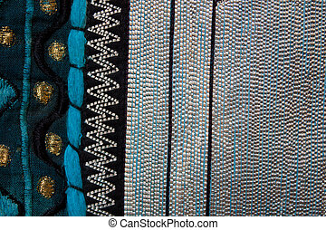 silver stripe - blue and silver metalic textile background....