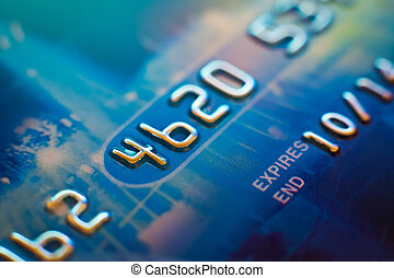 Credit card very close-up