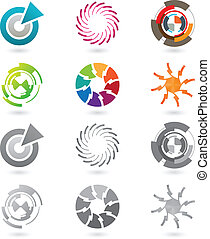 Collection of modern icons - A set of modern and futuristic...