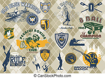 kinds of sports - illustration for poster and printing