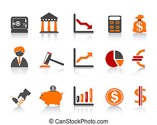 simple bank icons,color series - isolated simple bank...
