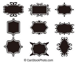 set of black retro frame