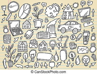 Doodle Business and Technology set