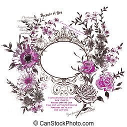 flower, nature, frame,