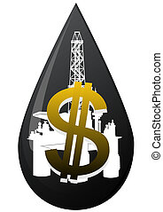 A drop of oil - Production and sale of minerals. Oil...
