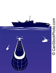 Anti-submarine ship - Ships of the Navy. The illustration on...
