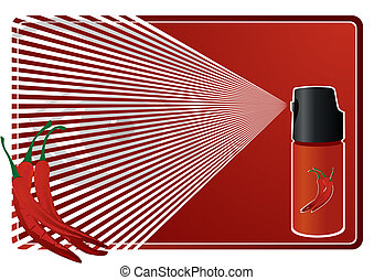 Means of protection - A can of tear gas Illustration of a...