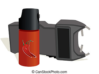 Personal protective equipment - Canister of tear gas and...