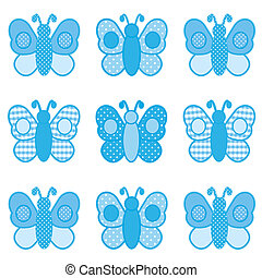 Butterflies, Gingham and Polka Dots - Baby butterflies in...