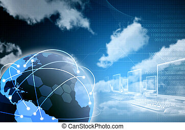Worldwide Internet and information connectivity illustration. Designed for background image. There a still space in the image to put down your wording or blend in your special design elements.