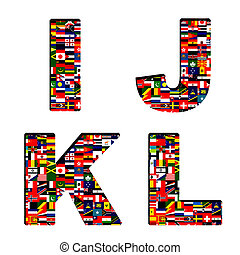 ALL National flags in font - ALL National flags font...