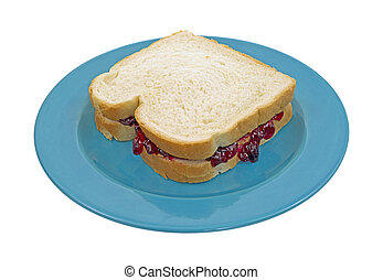 Peanut butter jelly sandwich - A peanut butter and grape...