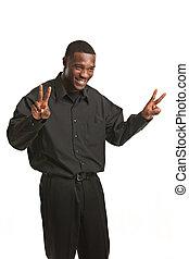 Young Black Business Man Portrait