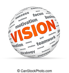 Sphere Business Vision - Sphere with the word vision on...