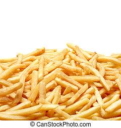 francés, fríe, aislado, blanco