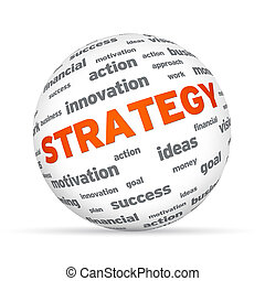 Business Strategy Sphere - Sphere with the word strategy on...