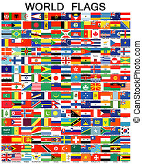 Complete set of Flags of the world sorted alphabetically...