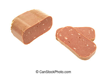 Sliced canned luncheon meat