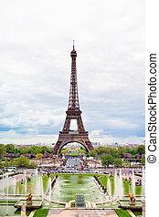 Champ de Mars - Eiffel tower on Champ de Mars in Paris