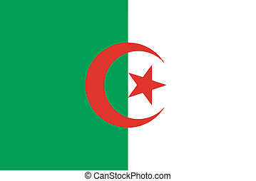 Vector illustration of the flag of  Algeria