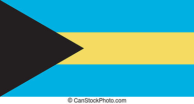 Vector illustration of the flag of  Bahamas