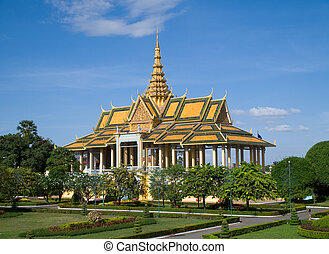 The Royal Palace in Phnom Penh - The Chanchhaya Pavilion at...