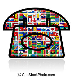 Flags with telephone - Complete set of Flags of the world...