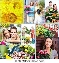 gente, jardinería