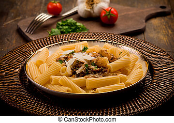 Pasta with Sicilian pesto - delicious macaroni pasta with...