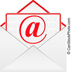 Email icon - Vector envelope with email sign