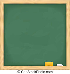 Blank green blackboard, vector eps10 illustration