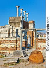 Ruins of st. Johns Basilica at Selcuk Ephesus Turkey - Ruins...